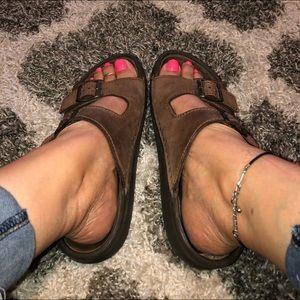 Birkenstock Hard Sole Leather Sandals
